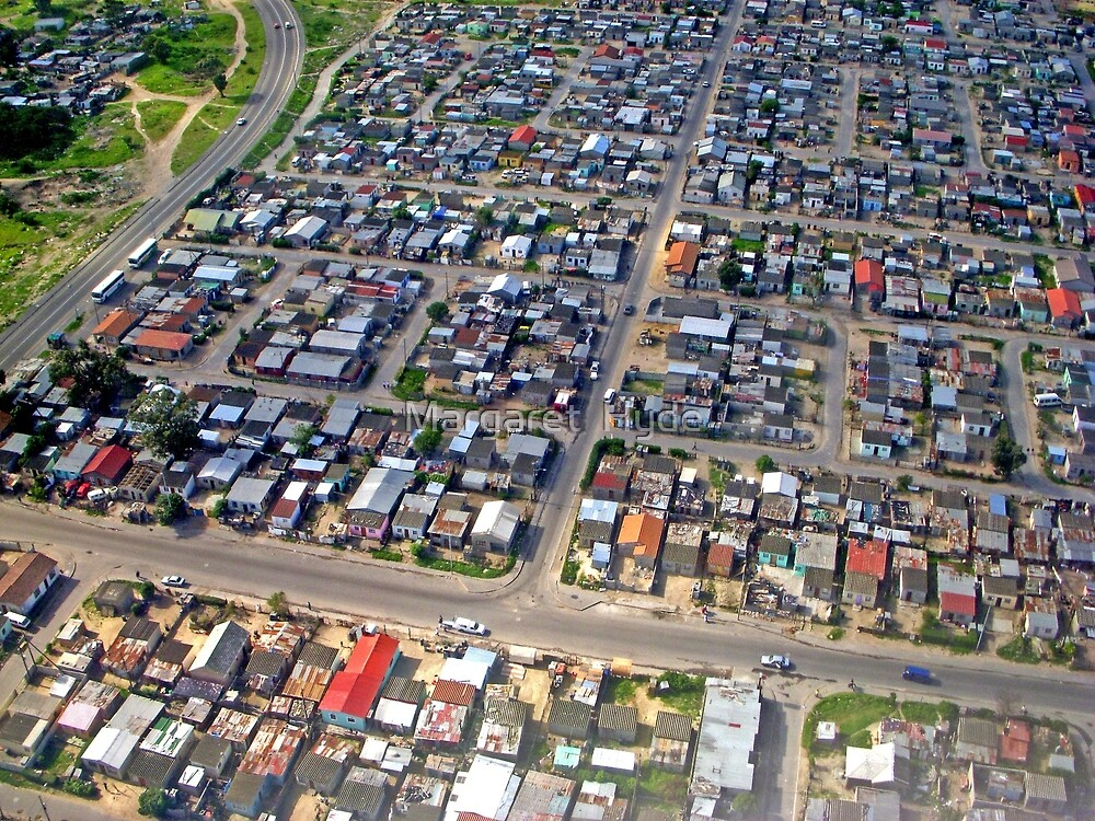 Aerial of Township, Cape Town, South Africa by Margaret  Hyde