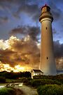Glow on the Lighthouse, Airey's Inlet by Christine Smith