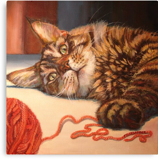 Afternoon Romp With Yarn by Peggy Selander