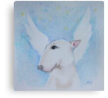 Bull Terrier - I'll Wait For You Canvas Print