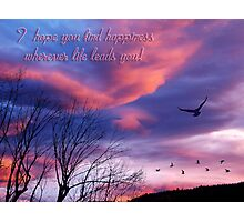 Fly Away Home card (Bon Voyage) Photographic Print