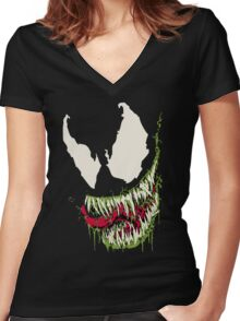 Venom Women's Fitted V-Neck T-Shirt