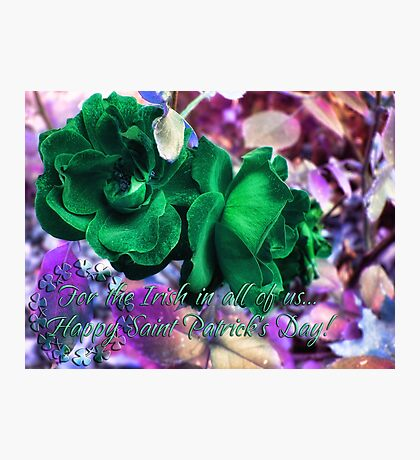 Saint Paddy's Day Card Photographic Print