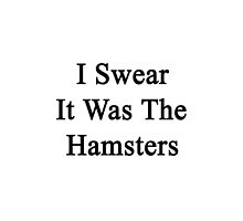 I Swear It Was The Hamsters  by supernova23