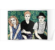 Lumineers Floral Swatch Poster
