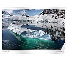 Antarctic Iceberg and Coastline Poster