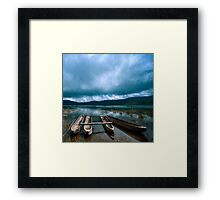 Storm is coming - Tamblingan lake, Bali Framed Print