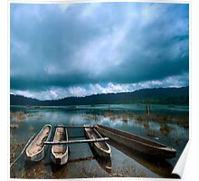 Storm is coming - Tamblingan lake, Bali Poster