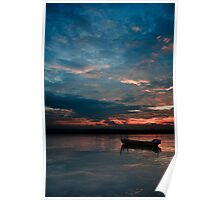 dawn boating Poster