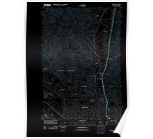 USGS Topo Map Washington Kelso 20110901 TM Inverted Poster
