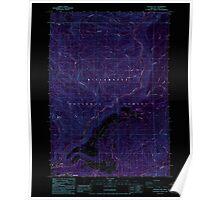 USGS Topo Map Oregon Westfir East 282055 1986 24000 Inverted Poster