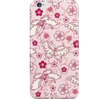 Japanese pink Butterfly iPhone Case/Skin