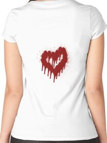 Blood Heart Women's Fitted Scoop T-Shirt