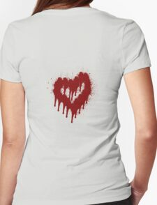Blood Heart Womens Fitted T-Shirt