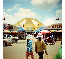 new market, phnom penh, cambodia Photographic Print
