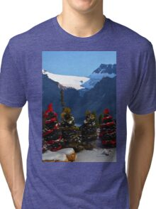 Christmas in the Canadian Rockies Tri-blend T-Shirt
