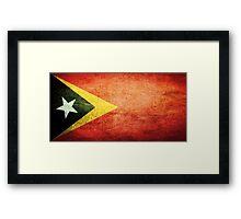East Timor - Vintage Framed Print