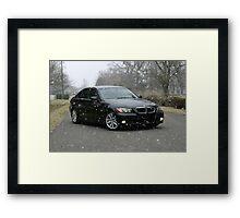 E90 Sport BMW Snowy Day Framed Print