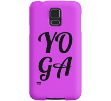 yoga Samsung Galaxy Case/Skin