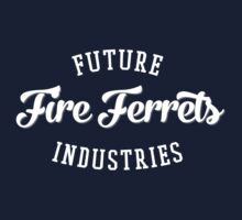 Future Industries' Fire Ferrets (White on Red) Kids Tee