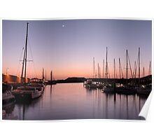 Masts at twilight Poster