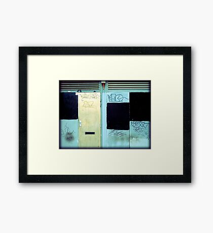 Manchester Tagging Doorways Framed Print