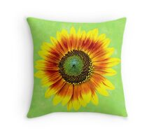 Sunflower Yellow Painted Flower Throw Pillow