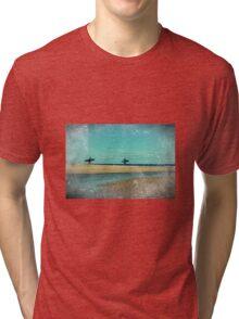 surfers at lagoon 1 Tri-blend T-Shirt