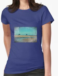 surfers at lagoon 1 Womens Fitted T-Shirt