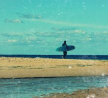 surfers at lagoon 1 Sticker