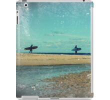 surfers at lagoon 1 iPad Case/Skin