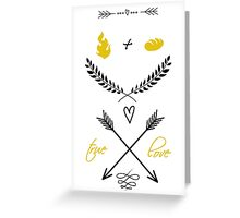 Fire + Bread = True Love Greeting Card