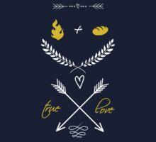Fire + Bread = True Love Kids Tee