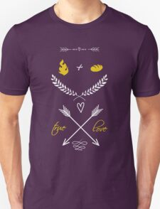 Fire + Bread = True Love T-Shirt