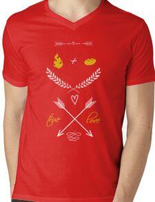 Fire + Bread = True Love Mens V-Neck T-Shirt