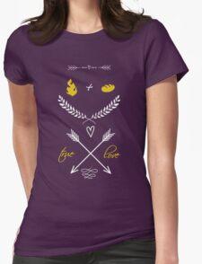 Fire + Bread = True Love Womens Fitted T-Shirt