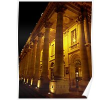 Bordeaux Theater at night Poster