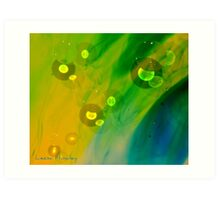 Abstract Oil and Water  Art Print