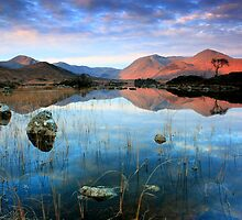 Scotland: Sunrise on Lochan nah'Achlaise  by Angie Latham