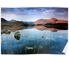 Scotland: Sunrise on Lochan nah'Achlaise  Poster
