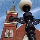 Church & Lamp Post by George Butch