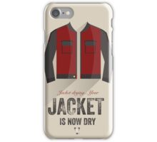 Cinema Obscura Series - Back to the future - Jacket iPhone Case/Skin