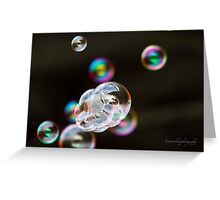 Bubbles - iPhone Case Greeting Card
