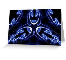 Vipers - Blue Digital Smoke Art Greeting Card