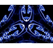 Vipers - Blue Digital Smoke Art Photographic Print