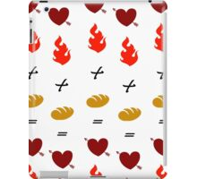 Fire + Bread = True Love iPad Case/Skin