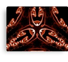 Vipers - Red Digital Smoke Art Canvas Print