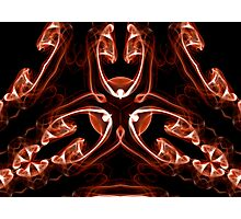 Vipers - Red Digital Smoke Art Photographic Print