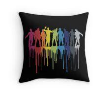 Rainbow Zombie Shuffle: Version One Throw Pillow