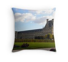 The ignored side of the Louvre Throw Pillow